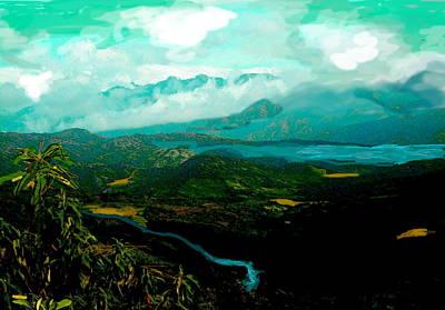 Central America Mixed Media - El Istmo  by Paul Sutcliffe