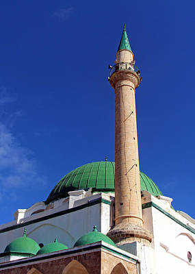 Photograph - El-jazzar Mosque Domes by Munir Alawi