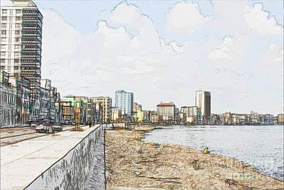 El Malecon Dos Art Print by Sergio B
