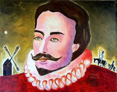 Don Quijote Painting - El Manco De Lepanto by Arturo Garcia