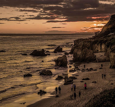 Photograph - El Matador Beach At Dusk by Gene Parks