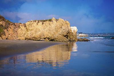 Photograph - El Matador Beach Reflections by Lynn Bauer