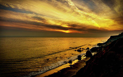 El Matador Beach Sunset Art Print