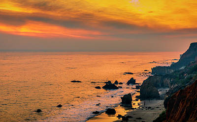 Photograph - El Matador Golden Hour by Gene Parks