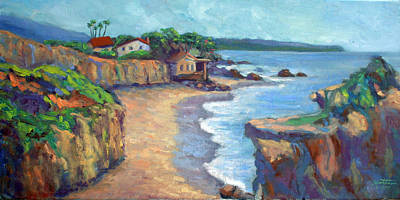 Matador Painting - El Matador State Beach by Athena  Mantle