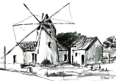 Ruins Mixed Media - El Molino  by Pam Taylor