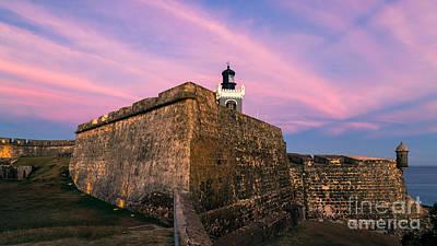 Garita Photograph - El Morro In Pink by Ernesto Ruiz