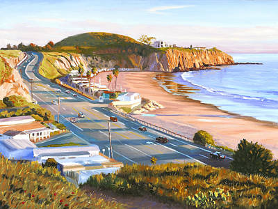 Crystal Cove Painting - El Morro Trailer Park by Steve Simon