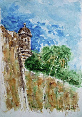 Painting - El Morro by Zaira Dzhaubaeva