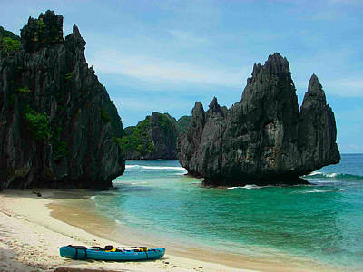 Mangrove Forest Painting - El Nido  The Philippines Last Frontier by Benjie Cuevas