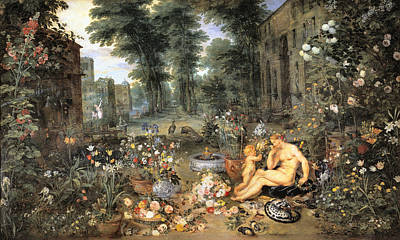 Photograph - El Olfato by Jan Brueghel the Elder