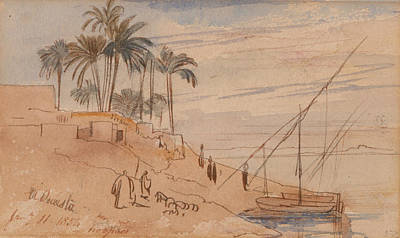 Drawing - El Ousta by Edward Lear