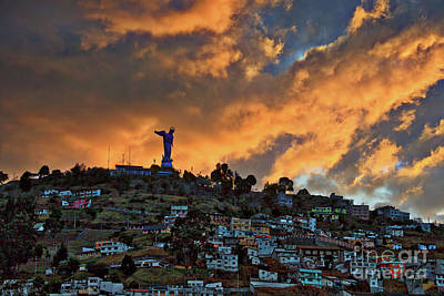 Photograph - El Panecillo At Sunset - Quito, Ecuador by Sam Antonio Photography