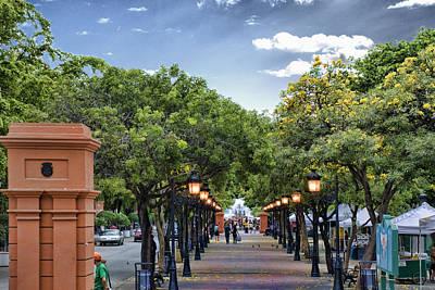 El Paseo De La Princesa Old San Juan Puerto Rico Print by Frank Feliciano