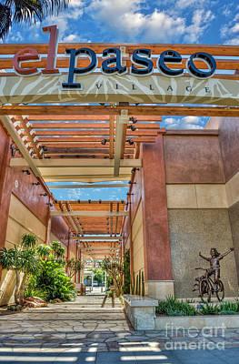 Photograph - El Paseo Palm Springs Ca by David Zanzinger