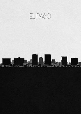 Digital Art - El Paso Cityscape Art by Inspirowl Design