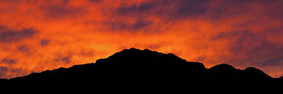Photograph - El Paso Fiery Sunset Panoramic by SR Green