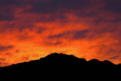 Pop Art - El Paso Fiery Sunset by SR Green