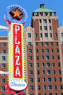 Photograph - El Paso Plaza Hotel And Plaza Theatre Sign by SR Green