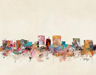 Skylines Digital Art - El Paso Texas by Bri B