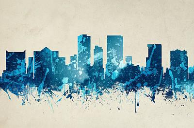 El Paso Painting - El Paso Texas Skyline 20 by Aged Pixel