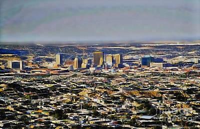 Mixed Media - El Paso Texas Skyline by Marvin Blaine