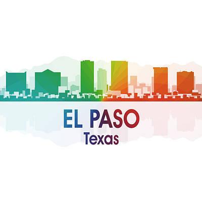 Skyscraper Mixed Media - El Paso Tx 1 Squared by Angelina Vick