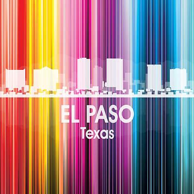 Usa Flag Mixed Media - El Paso Tx 2 Squared by Angelina Vick