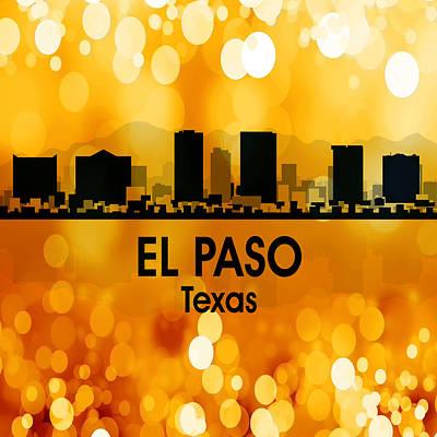 Usa Flag Mixed Media - El Paso Tx 3 Squared by Angelina Vick