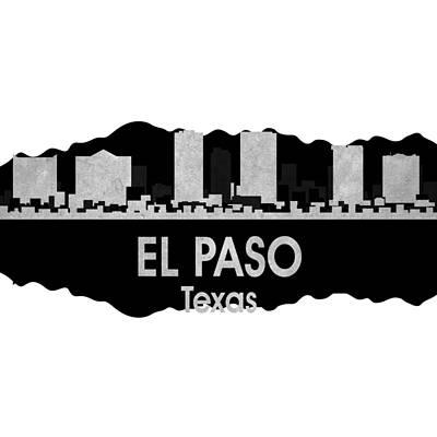 Usa Flag Mixed Media - El Paso Tx 4 Squared by Angelina Vick