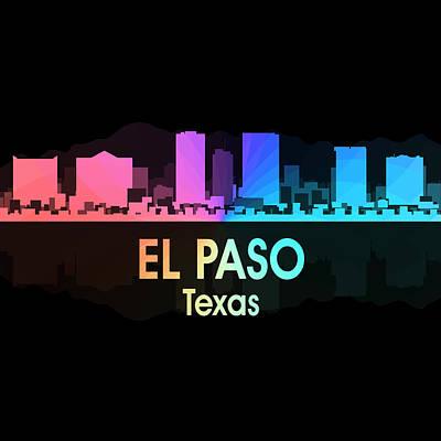 Usa Flag Mixed Media - El Paso Tx 5 Squared by Angelina Vick