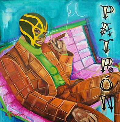 Luchador Painting - El Patron by Crimson Shults