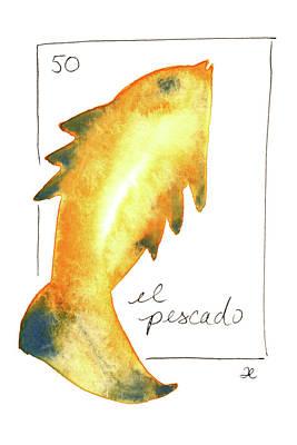 Painting - El Pescado by Anna Elkins