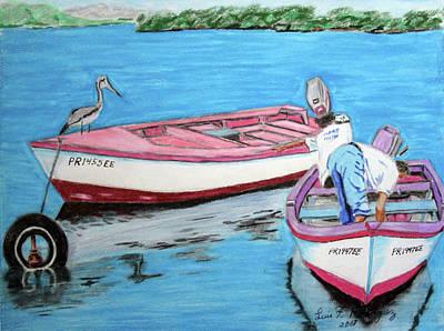 El Pescador De Guanica Print by Luis F Rodriguez