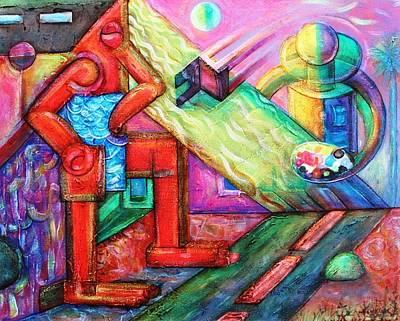 El Pintor De Las Mujeres Soles Art Print by Iran Plata Visual Artist