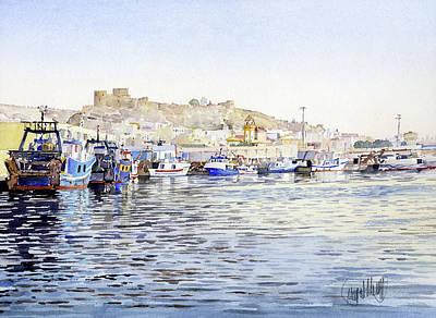 Painting - El Puerto Pesquero De Almeria by Margaret Merry
