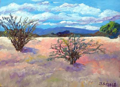 Painting - El Rancho Fields by Jack Riddle