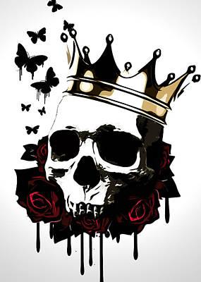 Crown Digital Art - El Rey De La Muerte by Nicklas Gustafsson