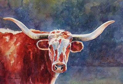Painting - el rey... Longhorn by Roxanne Tobaison