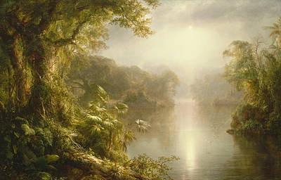 South American Jungle Painting - El Rio De Luz by Frederic Edwin Church