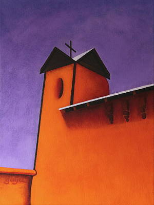 Painting - El Santuario Bell Tower by Gayle Faucette Wisbon