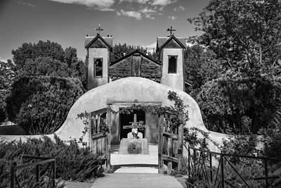 Photograph - El Santuario De Chimayo - Bw by Joye Ardyn Durham