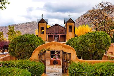 Photograph - El Santuario De Chimayo Study 4 by Robert Meyers-Lussier