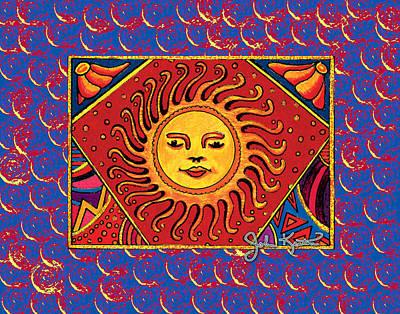 Drawing - El Sol 2 by John Keaton