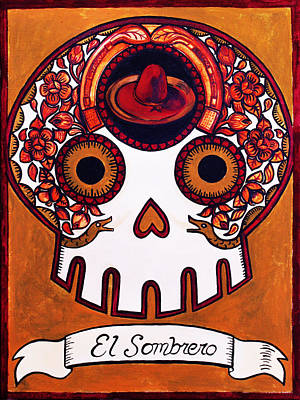 Loteria Painting - El Sombrero - The Hat by Mix Luera