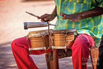 Musicians Royalty Free Images - El son de Cuba Royalty-Free Image by Delphimages Photo Creations