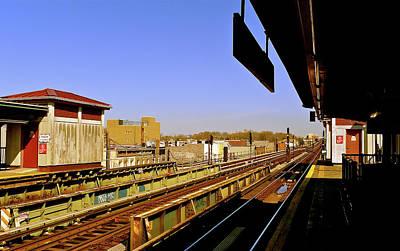 El Station Brooklyn Art Print by Frank Winters