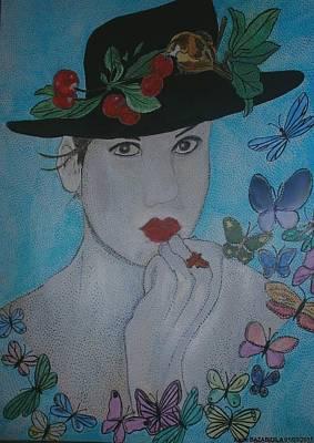 Libellule Painting - El Tiempo De Las Cerezas by Anne Bazabidila