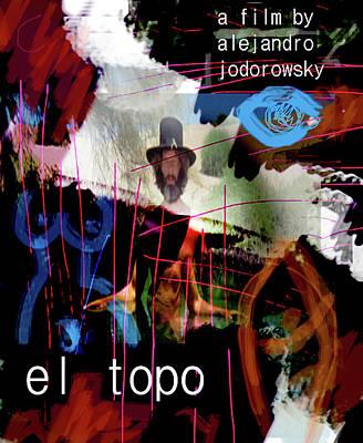 Goalkeeper Mixed Media - El Topo Film Poster  by Paul Sutcliffe