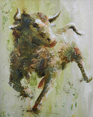 Pallet Knife Painting - El Toro by John Henne